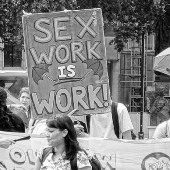 Seksityöläisten mielenosoitus Lontoossa 4.7.2018. Kuvaaja David Holt. Lisenssi CC BY 2.0.